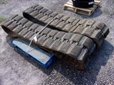USED RUBBER TRACKS - 450 X 86B X 55 (FITS BOBCAT T750 SKID STEER)