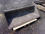 69'' SMOOTH EDGE QUICK CONNECT SKID STEER BUCKET