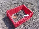 CRATE W/ASSORTED CHAIN & CABLE
