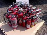 PALLET W/ FIRE EXTINGUISHERS