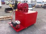 SKID MOUNT 350 GALLON WATER TANK W/HONDA 11HP GAS DRIVEN 35GPM WATER PUMP