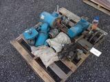 PALLET W/ MOSTLY ELECTRIC MOTORS & ELECTRIC HOISTS