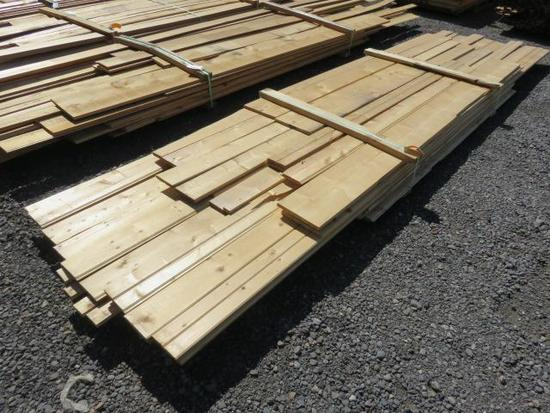ASSORTED SIZE & LENGTH PINE TONGUE & GROOVE/PLANK
