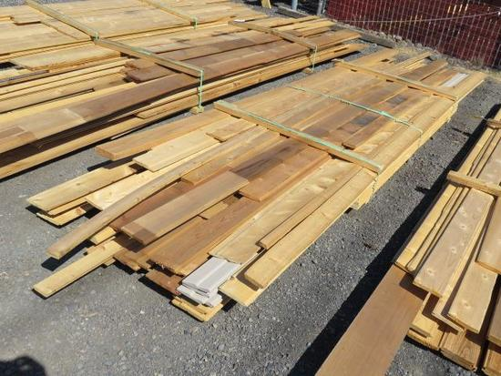 ASSORTED SIZE & LENGTH CEDAR TONGUE & GROOVE/PLANK