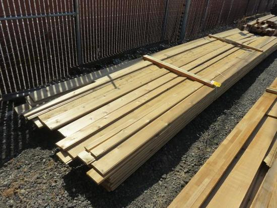 ASSORTED SIZE & LENGTH CEDAR TONGUE & GROOVE