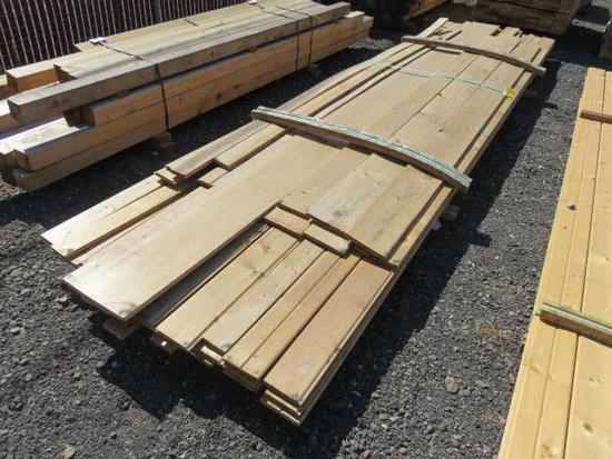 ASSORTED PINE BOARDS & PINE TONGUE & GROOVE BOARDS