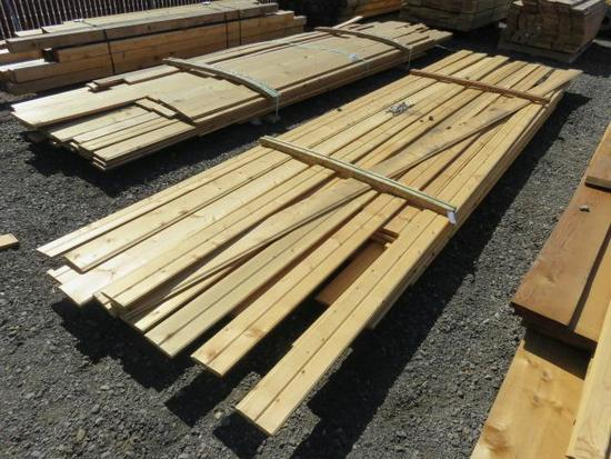 ASSORTED SIZE & LENGTH PINE TONGUE & GROOVE