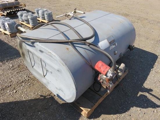 275 GAL OIL BURNER FUEL TANK, W/GASBOY