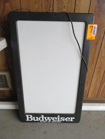 BUDWEISER 36'' X 22'' ELECTRIC BEER SIGN