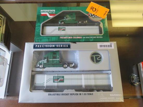 (2) BOXES OF DIE CAST REPLICA INTERSTATE TRUCKS