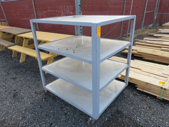 "4 SHELF ROLLING CART (48"" X 40"")"
