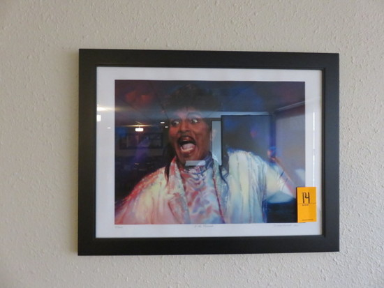 FRAMED LITTLE RICHARD PRINT