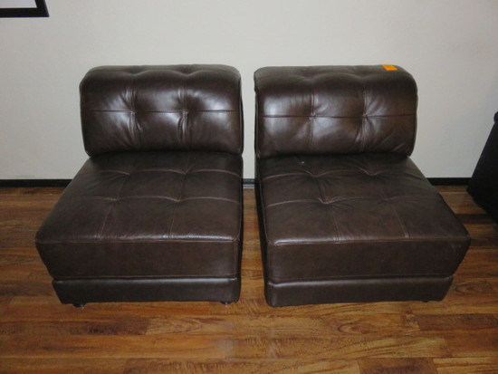 (2) LEATHER CHAIRS