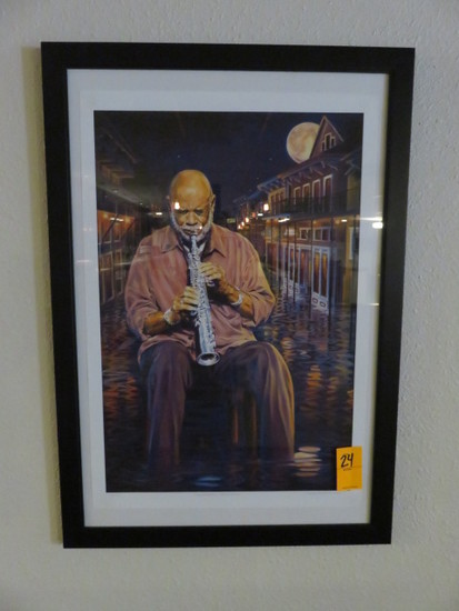 REGGIE HOUSTON FRAMED PRINT