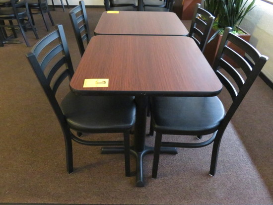 24'' X 24'' TABLE W/(2) CHAIRS