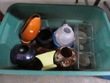 (2) BOXES VASES