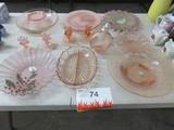 ROSE COLORED GLASS WARE