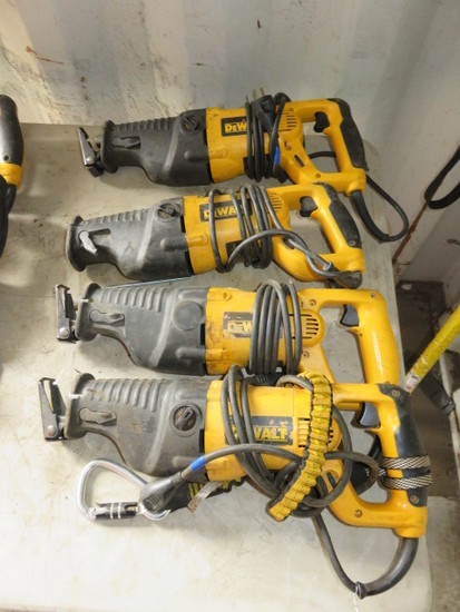 (4) DEWALT DW311 CORDED RECIPROCATING SAWS