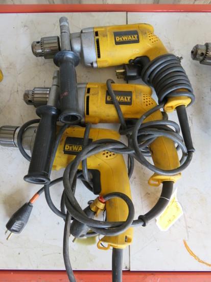 (3) DEWALT 120V DRILLS