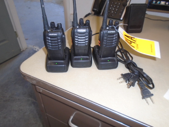 (3) BAOFENG 2 WAY RADIOS