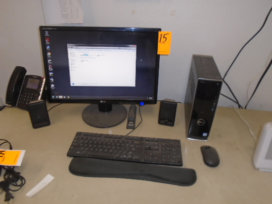 DELL DESKTOP COMPUTER W/MONITOR
