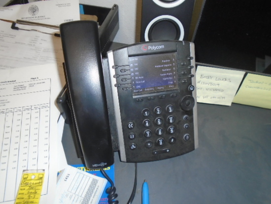 (4) POLYCOM PHONES