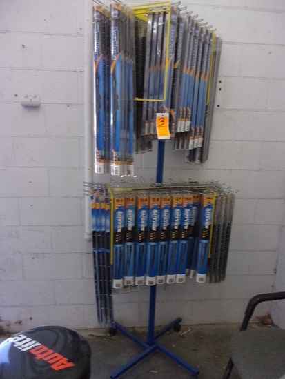 DISPLAY RACK W/ASSORTED NEW WINDSHIELD WIPERS