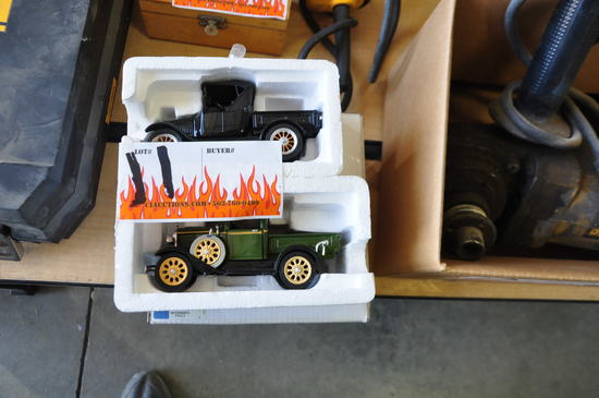 LOT OF TWO FORD PROMO MODEL A PICKUP TOYS