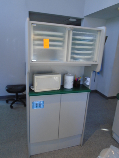 CABINET W/ASSORTED DENTAL SUPPLIES