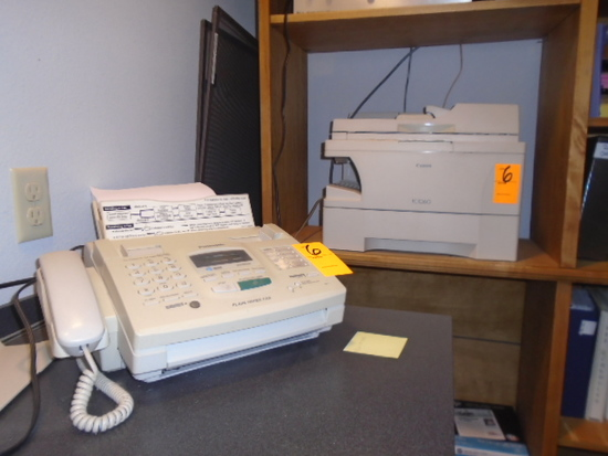 PANASONIC FAX MACHINE & CANON PC1060 COPIER
