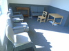 ASSORTED FRONT OFFICE CHAIRS & TABLES