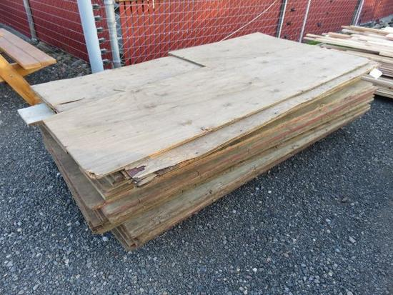 PALLET OF ASSORTED LENGTH & WIDTH OF 3/4'' PLYWOOD