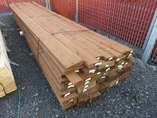 PALLET OF ASSORTED 16' 2X4, 2X6, 2X12, 4X6, 4X8, 4X10, PRESSURE TREATED BOARDS