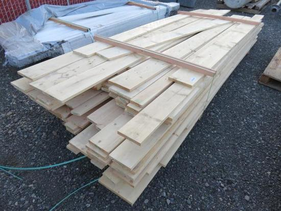 PALLET OF ASSORTED SIZE & LENGTH OF PINE BOARDS