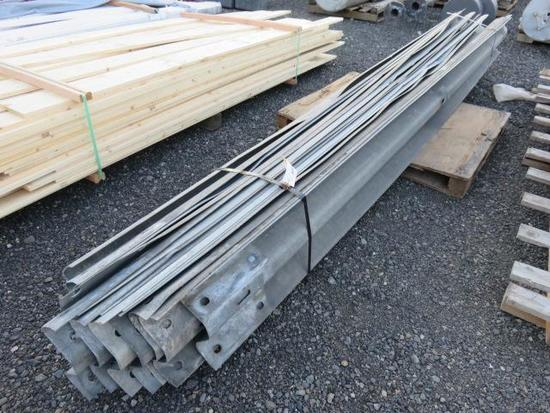 (15) 162'' GALVANIZED GUARD RAILS