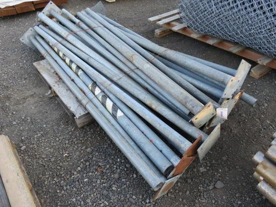 (24) METAL FENCE POSTS