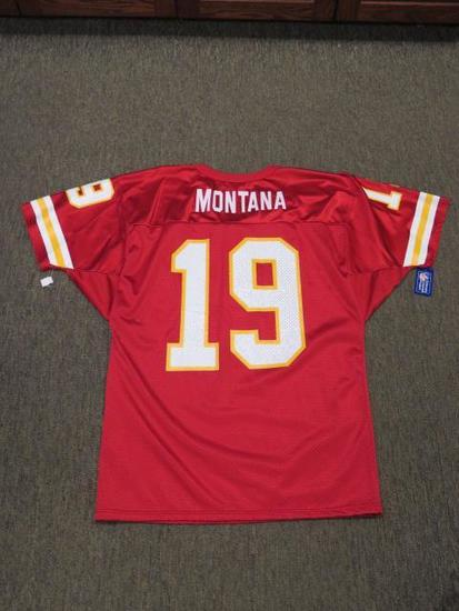 JOE MONTANA FOOTBALL JERSEY ''KANSAS CITY #19''