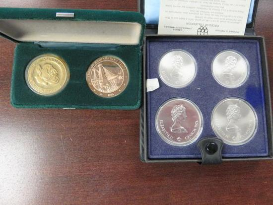 CANADIAN OLYMPIC COIN SET & (2) COMMEMORATIVE COINS
