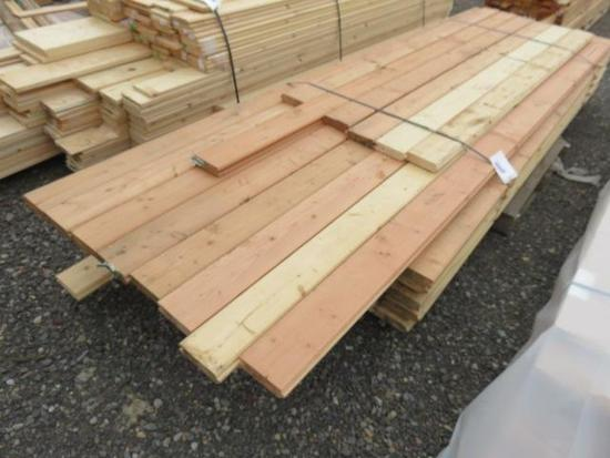 ASSORTED LENGTH TONGUE & GROOVE FIR SUB FLOOR BOARDS