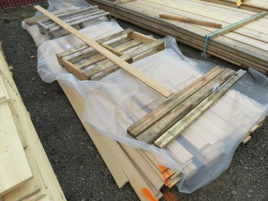 PALLET OF ASSORTED LENGTH 4'' FIR TONGUE & GROOVE BOARDS