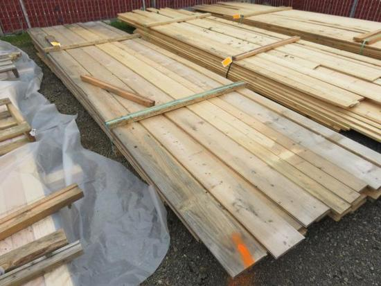 PALLET OF ASSORTED LENGTH & WIDTH PINE BOARDS