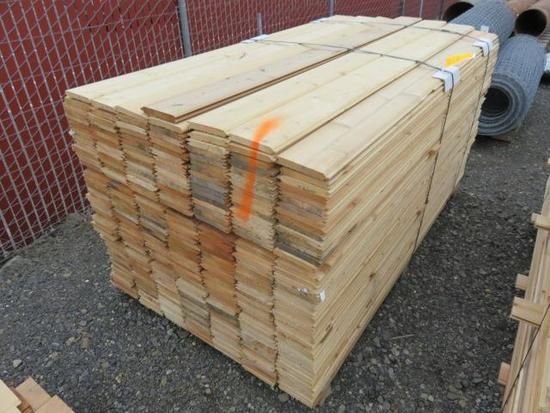 PALLET OF APPOXIMATELY 315 6' X 5'' PINE TONGUE & GROOVE BOARDS