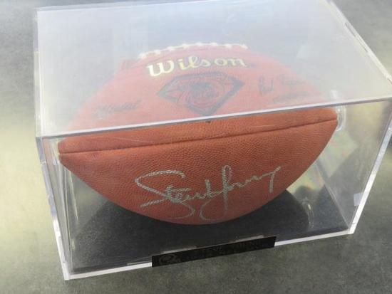 AUTOGRAPHED STEVE YOUNG 1994 NFL MVP FOOTBALL