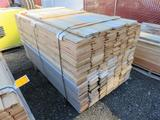 PALLET OF 6', 4'', 6'', & 8'' WIDE TONGUE & GROVE PINE & CEDAR BOARDS