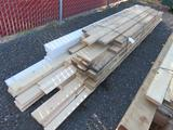 ASSORTED LENGTH, 2'' X 6'' FIR & CEDAR BOARDS, & ASSORTED LENGTH & WIDE TONGUE & GROOVE PINE BOARDS
