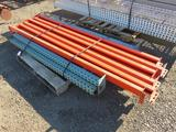 (2) 6' PALLET RACK UP RIGHTS & (6) 8' CROSSARMS