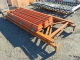 (3) 12' PALLET RACK UP RIGHTS & (12) 8' CROSSARMS