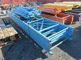 (7) 20' PALLET RACKING UPRIGHTS, APPROXIMATELY (31) 90'' CROSSARMS
