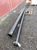 PALLET W/(1) 21'6''X4'' POLY PIPE & (1) 21'6''X6'' POLY DRAIN PIPE
