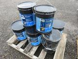 (8) 4.7 GALLON CANS OF BLACK JACK ROLL ROOFING ADHESIVE